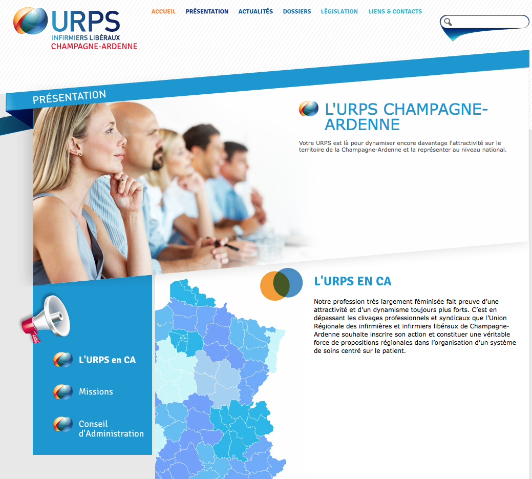 nouveau site URPS Champagne-Ardenne